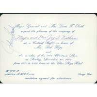 Johnny Bench Cincinnati Reds Signed 1970 Bob Hope Invitation JSA Authenticated