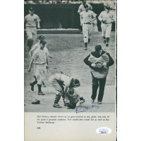 Bill Dickey New York Yankees Signed 6x9 Book Page JSA Authenticated