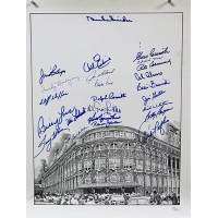 Brooklyn Dodgers Ebbits Fields Signed 16x20 Lithograph by 24 JSA Authenticated