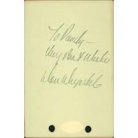 Don Drysdale Signed 3.75x5.75 Album Page JSA Authenticated