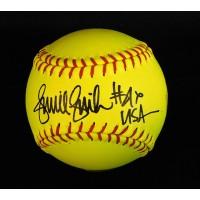 Jennie Finch Team USA Signed Yellow Softball JSA Authenticated