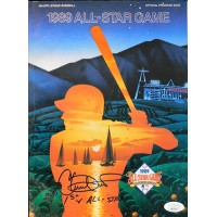 Chuck Finley California Angels Signed 1989 All-Star Program JSA Authenticated