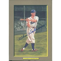 Charlie Gehringer Signed Perez-Steele Great Moments Postcard JSA Authenticated