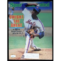 Dwight Gooden New York Mets Signed Sports Illustrated Magazine JSA Authenticated
