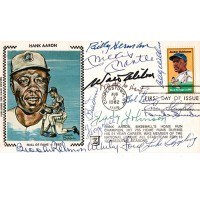 Baseball Hall Of Famers Cachet Signed By 14 Players JSA Authenticated