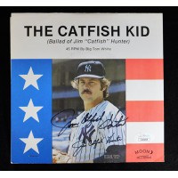 Jim Catfish Hunter Yankees Signed The Catfish Kid 45 RPM Album JSA Authenticated