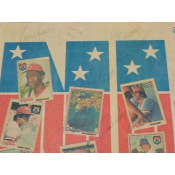 MLB All-Stars 1978 Signed Matted Newspaper by 32 Players JSA Authenticated