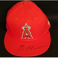 Brandon Marsh Los Angeles Angels Signed New Era Hat JSA Authenticated