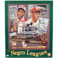 Negro League HOF'ers & Stars Signed 20x24 Poster 9 Signatures JSA Authenticated