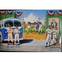 Negro League Stars Signed 24x36 Poster 8 Signatures JSA Authenticated