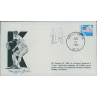 Nolan Ryan Signed 5,000 Strikeout Limited Edition Cachet /1200 JSA Authenticated