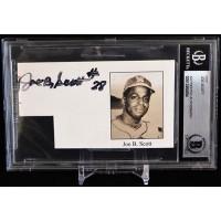 Joe B. Scott Negro Leagues Baseball Player Signed Cut Beckett Authenticated BAS