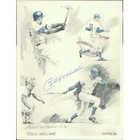 Billy Williams Cubs and James Amore Signed 8.5x11 Lithograph JSA Authenticated