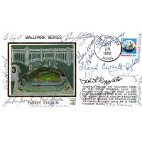 New York Yankees Hall Of Famers & Stars Cachet Signed By 16 Players JSA Authenticated
