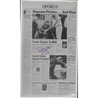 Robin Yount Milwaukee Brewers Signed Newspaper Printing Plate JSA Authenticated