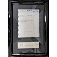 Hank Aaron Signed Framed Congratulatory USPS Mailgram on Home Run 715 JSA Authenticated