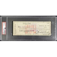 Charles O. Finley Oakland A's Signed Cancelled Check PSA Authenticated Slabbed