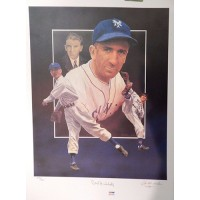 Carl Hubbell Signed Limited Edition Christopher Peluso Lithograph PSA Authenticated