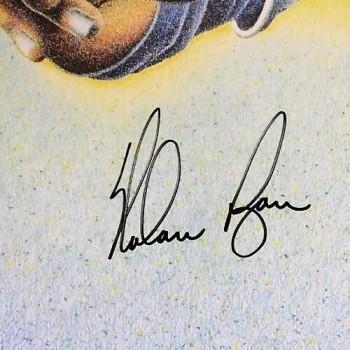 Nolan Ryan Texas Rangers Signed 21x28 Lithograph Nolan's Knoockin! JSA Authenticated