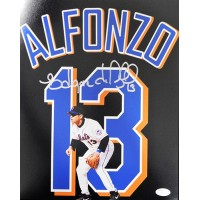 Edgar Alfonzo New York Mets Signed 11x14 Matte Photo JSA Authenticated