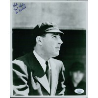 Al Barlick Baseball Umpire Signed 8x10 Glossy Photo JSA Authenticated