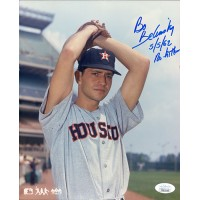Bo Belinsky Houston Astros Signed 8x10 Glossy Photo JSA Authenticated