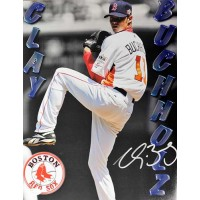 Clay Buchholz Boston Red Sox Signed 11x14 Matte Photo JSA Authenticated