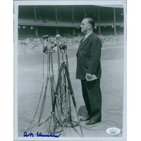 "A.B. ""Happy"" Chandler Baseball Commissioner Signed 8x10 Photo JSA Authenticated"