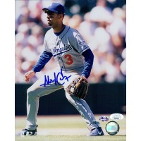 Alex Cora Los Angeles Dodgers Signed 8x10 Glossy Photo JSA Authenticated
