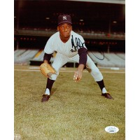 Al Downing New York Yankees Signed 8x10 Glossy Photo JSA Authenticated
