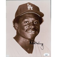 Al Downing Los Angeles Dodgers Signed 8x10 Glossy Photo JSA Authenticated