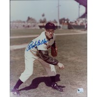 Bob Feller Cleveland Indians Signed 8x10 MLB Glossy Photo Global Authenticated