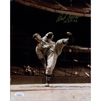 Bob Feller Cleveland Indians Signed 8x10 Glossy Photo JSA Authenticated