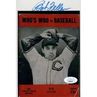 Bob Feller Cleveland Indians Signed 5x7 Matte Photo JSA Authenticated
