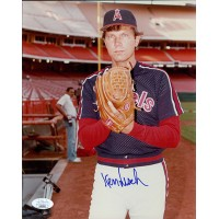 Ken Forsch California Angels Signed 8x10 Glossy Photo JSA Authenticated