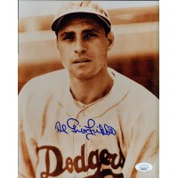 Al Gionfriddo Brooklyn Dodgers Signed 8x10 MLB Matte Photo JSA Authenticated