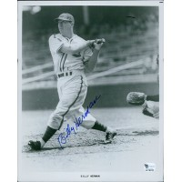 Billy Herman Chicago Cubs Signed 8x10 Glossy Photo Global Authenticated