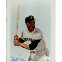 Monte Irvin New York Giants Signed 8x10 Glossy Photo JSA Authenticated