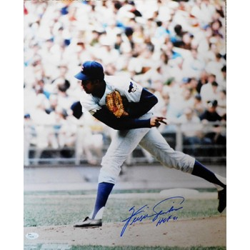 Ferguson Jenkins Chicago Cubs Signed 16x20 Glossy Photo JSA Authenticated
