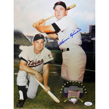 Harmon Killebrew Minnesota Twins Signed 11x14 Photo JSA Authenticated