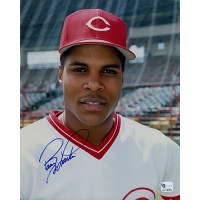 Barry Larkin Cincinnati Reds Signed 8x10 Glossy Photo Global Authenticated