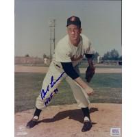 Bob Lemon Signed Cleveland Indians HOF 76 Official MLB 8x10 Glossy Photo PSA Authenticated