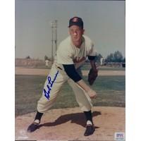 Bob Lemon Signed Cleveland Indians Official MLB Baseball 8x10 Glossy Photo PSA Authenticated