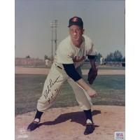 Bob Lemon Signed Cleveland Indians HOF 76 8x10 Glossy Photo PSA Authenticated