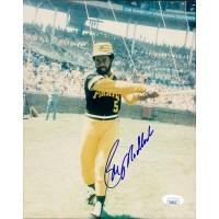 Bill Madlock Pittsburgh Pirates Signed 8x10 Glossy Photo JSA Authenticated