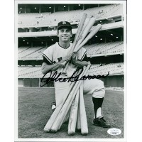 Albie Pearson Los Angeles Angels Signed 8x10 Glossy Photo JSA Authenticated