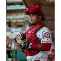 Carlos Perez Los Angeles Angels Signed 8x10 MLB Matte Photo MLB Authenticated