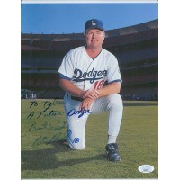 Bill Russell Los Angeles Dodgers Signed 8.5x11 Card Stock Photo JSA Authentic