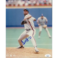 Anthony Young New York Mets Signed 8x10 Glossy Photo JSA Authenticated