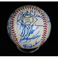 California Angels 1983 Team Signed Official League Baseball JSA Authenticated